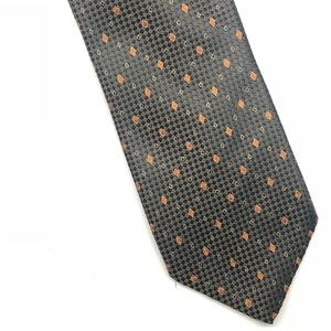 Brioni Geometric Luxury Hand Made Silk Tie